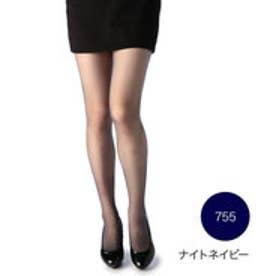 【福助】 【引き締め着圧】 25デニール シアータイツ (ナイトネイビー)