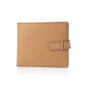 小銭入れ付き二つ折り財布 (ブラウン)
