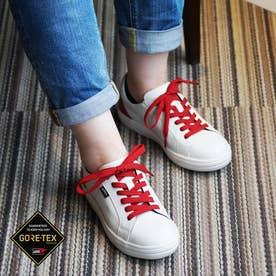 【GORE-TEX】 madras Walk どんな服装にもとにかく合わせ易い♪ カジュアルの定番!コート系スニーカー  MWL1002  (ホワイト/レッド)