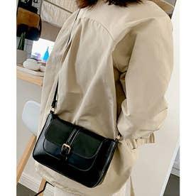 使い勝手の良いサイズ感が魅力的なショルダーバッグ (ブラック)