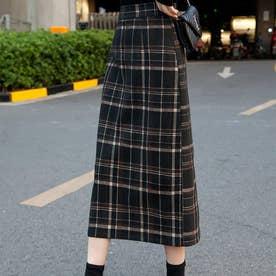 チェックタイトスカート (ブラック)