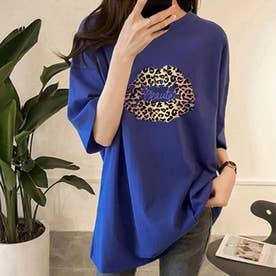 BIGシルエットTシャツ (ブルー)