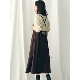 【socolla】【WEB別注】サスぺ付きスカート (ブラウン)