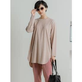 シルキースムースチュニックTシャツ (ピンク)