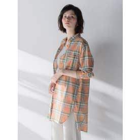 マドラスチェックシャツ (オレンジ系その他)