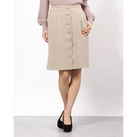 フロントボタンIラインスカート (ミント)