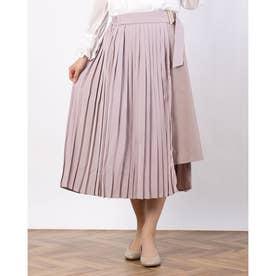 プリーツラップスカート (ピンク)