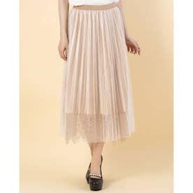 ☆裾レースベロアスカート (アイボリー)