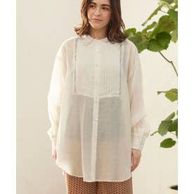 シアーピンタックシャツ (オフホワイト)