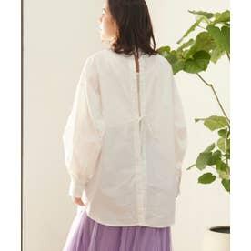 ブロードバックリボンシャツ (オフホワイト)