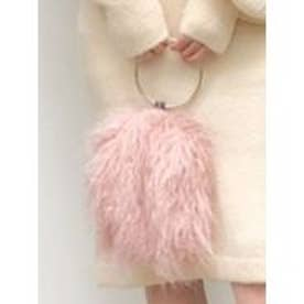 エコファーラウンドバッグ(ピンク)