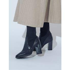 ソックスタイプショートブーツ(ブラック)