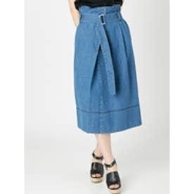 デニムラップスカート(ブルー) ブルー