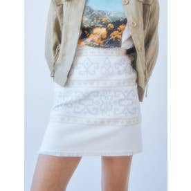 刺繍ミニスカート(オフホワイト)
