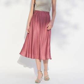 ドットセミAラインスカート(ピンク)