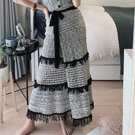 透かし編みラップスカート(ミックス)