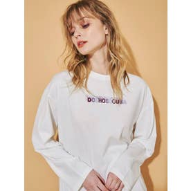 【DC別注】ロゴロングスリーブTシャツ(オフホワイト)