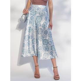 サテンセミAラインスカート (MIX)
