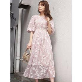 ペイズリー刺繍ロングドレス(ベージュ)