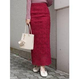 モザイクレースタイトスカート(プラム)