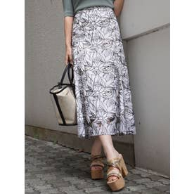 カットワーク刺繍ナロースカート(ブラック)