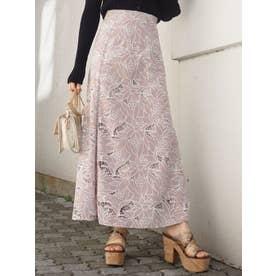 カットワーク刺繍ナロースカート(ベージュ)