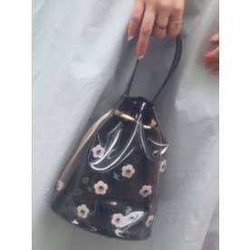 PVCお花咲いた巾着Bag(ブラック)