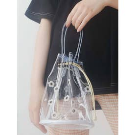 PVCお花咲いた巾着Bag(ブルー)