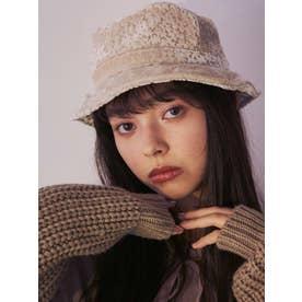 floralオパールバケットhat(オフホワイト)
