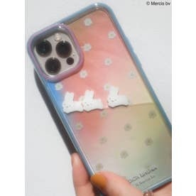 【12】お花のぷかぷか iPhone case(ブルー)
