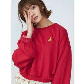 Bear刺繍ルーズトレーナー (RED)
