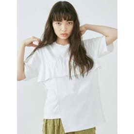 キリカエアシメフリルBig Tシャツ (オフホワイト)