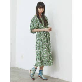 flower puffy dress (GRN)