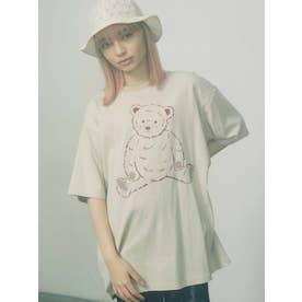 bear loose tshirt(ベージュ)