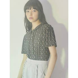 floralポロシャツ(ネイビー)