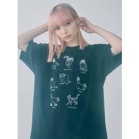 猫図鑑Tシャツ(ブラック)