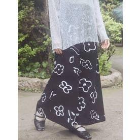 drawing gardenツイルスカート(ブラック)