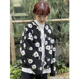 fuluffy pattern jacket(ブラック)