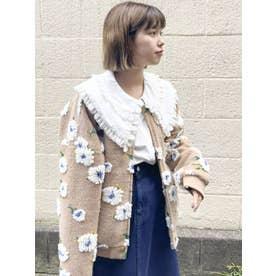 fuluffy pattern jacket(ベージュ)