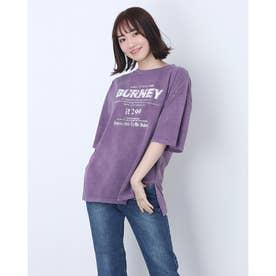 ピグメントロゴTシャツ (パープル)