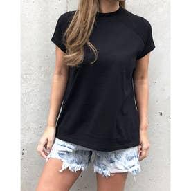 プチハイネックラグランTシャツ (ブラック)