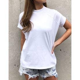 プチハイネックラグランTシャツ (オフホワイト)