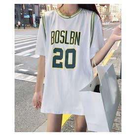 バスケタンクトップドッキングTシャツ (ホワイト)