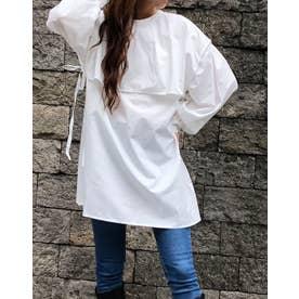 サイドリボンケープシャツ (オフホワイト)