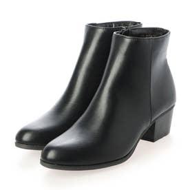 プレーン ショートブーツ (ブラック)