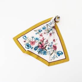 花柄スカーフ (黄系)