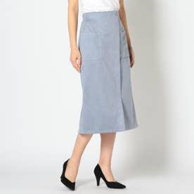 フェイクスエードタイトスカート (ライトブルー)