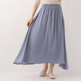 サテンギャザーレイヤードスカート (ライトブルー)