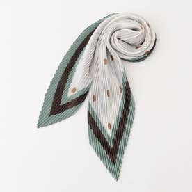 ドットプリーツスカーフ (緑系)