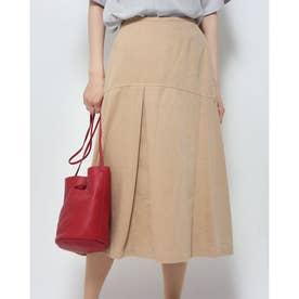 製品染めツイル スカート (ベージュ)